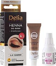 Parfémy, Parfumerie, kosmetika Krémová barva na obočí - Delia Cosmetics Cream Eyebrow Dye