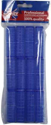 Natáčky na suchý zip 16/63, modré - Ronney Professional Velcro Roller