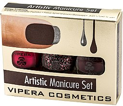 Parfémy, Parfumerie, kosmetika Sada laků - Vipera Set Artistic Manicure (n/pol/5,5mlx3) (01-Metaphor)