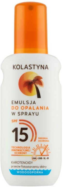 Emulze na opalování - Kolastyna Emulsion Spray SPF 15 — foto N1