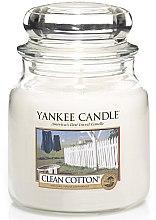 Parfémy, Parfumerie, kosmetika Svíčka ve skleněné nádobě - Yankee Candle Clean Cotton