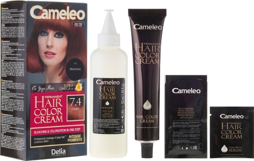 Odolná barva na vlasy s přírodnímy oleji - Delia Cameleo Omega +