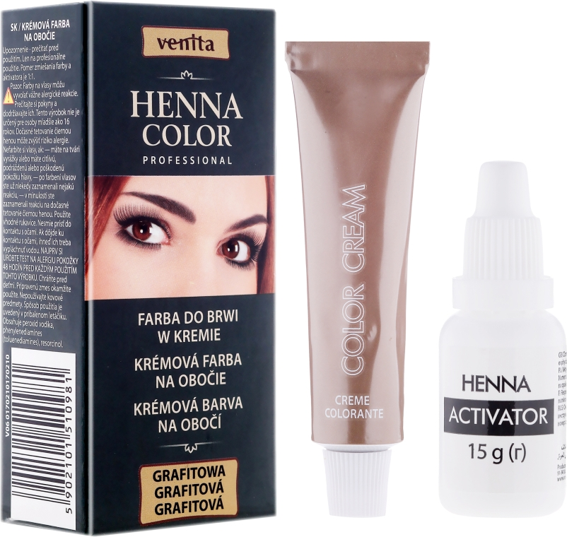 Krémová henna na obočí - Venita Henna Color