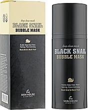 Parfémy, Parfumerie, kosmetika Kyslíková hlemýždí maska s bambusovým uhlím - The Skin House Black Snail Bubble Mask