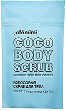 Parfémy, Parfumerie, kosmetika Tělový peeling Kokos, spirulina a kaktus - Cafe Mimi Coco Body Scrub Coconut Spirulina Cactus