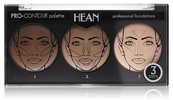 Paleta na konturování obličeje 3 odstíny - Hean Pro-Countour Palette