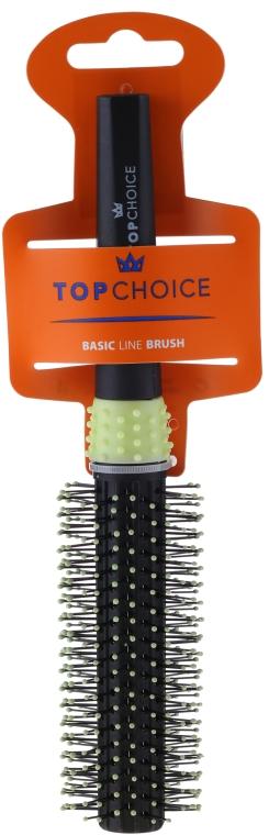 Kartáč na vlasy, černo-zelený, 2083 - Top Choice — foto N1