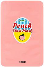 Parfémy, Parfumerie, kosmetika Látková maska na obličej s extraktem z broskev - A'Pieu Peach & Yogurt Sheet Mask