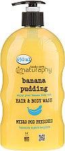 Parfémy, Parfumerie, kosmetika Šampon-sprchový gel Banán a aloe vera - Bluxcosmetics Naturaphy