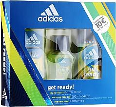 Parfémy, Parfumerie, kosmetika Adidas Get Ready for Him - Sada (edt/50ml + deo/150ml + s/g/250ml)