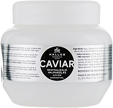 Parfémy, Parfumerie, kosmetika Maska na obnovu vlasů s extraktem z černého kaviáru - Kallos Cosmetics Anti-Age Hair Mask