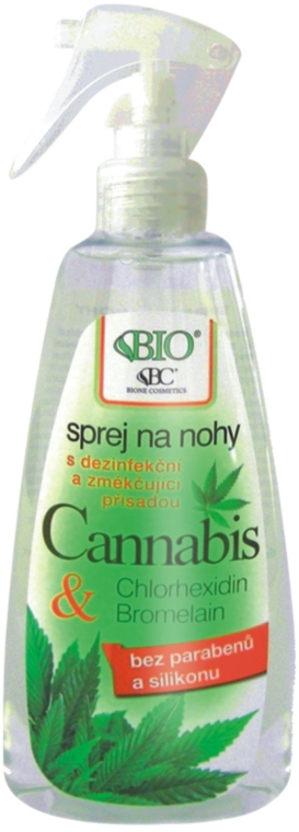 Sprej na nohy - Bione Cosmetics Cannabis Foot Spray With Triethyl Citrate And Bromelain