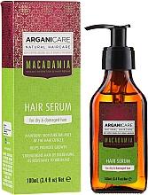 """Parfémy, Parfumerie, kosmetika Sérum na vlasy """"Poškozené konečky"""" - Arganicare Macadamia Hair Serum for Dry & Damaged Hair"""
