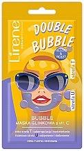Parfémy, Parfumerie, kosmetika Bublinková jílová maska na obličej s vitaminem C - Lirene Double Bubble Mask