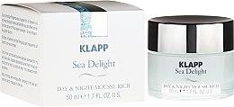 Parfémy, Parfumerie, kosmetika Výživný krém Sea Delight - Klapp Sea Delight Day & Night Mousse Rich