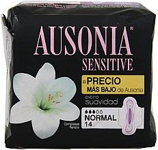 Parfémy, Parfumerie, kosmetika Hygienické vložky, 14 ks - Ausonia Sensitive Normal With Wings