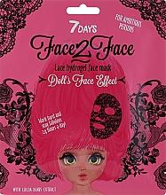 Parfémy, Parfumerie, kosmetika Hydrogelová pleťová maska v krajkovém designu s extraktem z kakaových bobů - 7 Days Face2Face Lace Hydrogel Mask Cocoa Beans