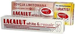 Parfémy, Parfumerie, kosmetika Sada - Lacalut White & Repair Set (t/paste/75ml+dental/floss)