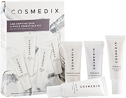 Parfémy, Parfumerie, kosmetika Sada - Cosmedix Age Defying Skin 4-Piece Essentials Kit (f/cleanser/15ml + f/ser/15ml + f/ser/15ml + f/cr/15ml)
