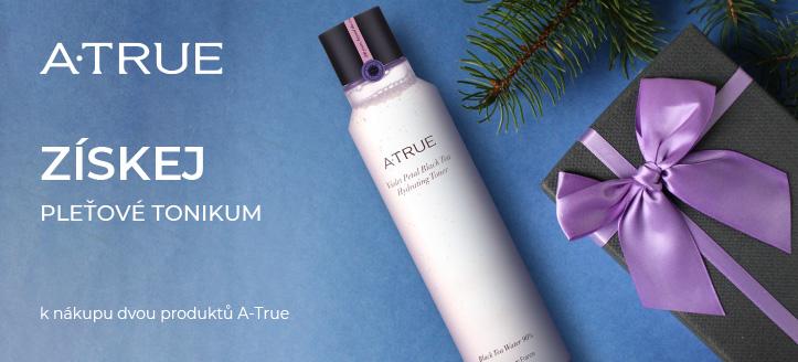 Získej pleťové tonikum k nákupu dvou produktů A-True jako dárek
