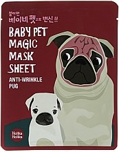 "Parfémy, Parfumerie, kosmetika Tkáňová maska ""Mops"" - Holika Holika Baby Pet Magic Mask Sheet Anti-Wrinkle Pug"