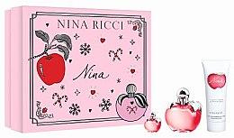 Parfémy, Parfumerie, kosmetika Nina Ricci Nina - Sada (edt/50ml + b/lot/75ml + edt/4ml)