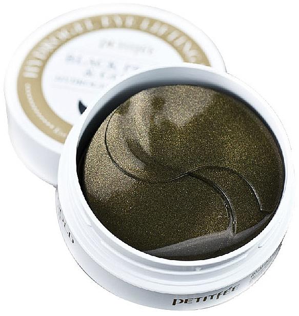 Hydrogel náplasti pod oči se zlatými a černými perlami - Petitfee & Koelf Black Pearl&Gold Hydrogel Eye Patch