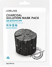 Parfémy, Parfumerie, kosmetika Pleťová maska látková Dřevěné uhlí - Lebelage Charcoal Solution Mask