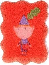Parfémy, Parfumerie, kosmetika Dětská houba na mytí Ben & Holly, Ben, červená - Suavipiel Ben & Holly