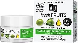 Parfémy, Parfumerie, kosmetika Pasta peeling na obličej s olivovým olejem - AA Fresh Fruits Healthy Glow