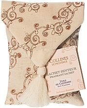 Parfémy, Parfumerie, kosmetika Vonný sáček v latkovém pytliku Měkký kašmír - Collines de Provence Soft Cashmere