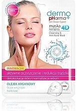 """Parfémy, Parfumerie, kosmetika Maska na obličej """"Aktivní léčba a redukce akné"""" - Dermo Pharma Skin Repair Expert Cleansing Anti Acne Mask 4D"""