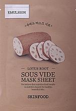 Parfémy, Parfumerie, kosmetika Plátýnková maska s výtažkem z kořene lotosu - Skinfood Lotus Root Sous Vide Mask Sheet