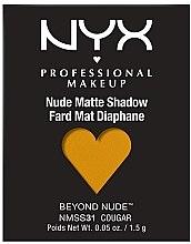 Parfémy, Parfumerie, kosmetika Matné oční stíny - NYX Professional Matte Shadow Beyond Nude