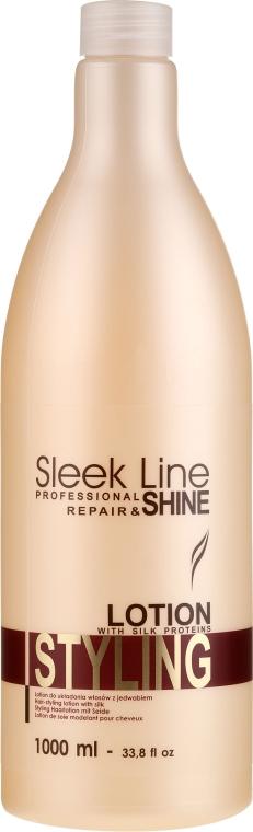 Mléko s hedvábím pro styling vlasů - Stapiz Sleek Line Styling Lotion