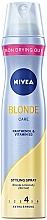 """Parfémy, Parfumerie, kosmetika Lak na vlasy extra silná fixace """"Luxusní blond"""" - Nivea Styling Spray"""