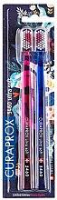 Parfémy, Parfumerie, kosmetika Sada zubních kartáčků CS 5460, ultra měkké, růžový + modrý - Curaprox Ultra Soft Duo Love Edition