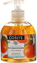 Parfémy, Parfumerie, kosmetika Tekuté mýdlo Savon De Marseille s přírodním olivovým olejem, vůně mandarinky - Coslys Marselle soap Mandarin fragrance