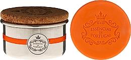 Parfémy, Parfumerie, kosmetika Přírodní mýdlo - Essencias de Portugal Aluminium Jewel-Keeper With Cork Lid Orange