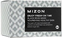 Parfémy, Parfumerie, kosmetika Vyhlazující maska na vrásky s extraktem z černých fazolí - Mizon Enjoy Fresh On-Time Black Bean Mask