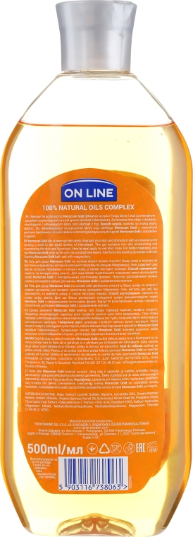 Sprchový olej - On Line Senses Shower Oil Moroccan Gold — foto N2
