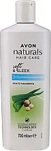 Parfémy, Parfumerie, kosmetika Šampon a kondicionér 2 v 1 s aloe a makadamovým olejem - Avon Naturals Shampoo
