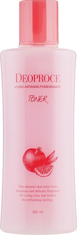 Anti-age toner s extraktem z granátového jablka a kyselinou hyaluronovou - Deoproce Hydro Antiaging Pomegranate Toner