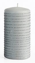 Parfémy, Parfumerie, kosmetika Dekorativní svíčka, šedá, 7x10 cm - Artman Andalo