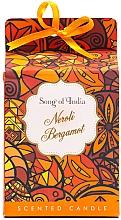 """Parfémy, Parfumerie, kosmetika Aromatická svíčka ve skleněné nádobě """"Neroli a Bergamot"""" - Song of India Scented Candlee"""