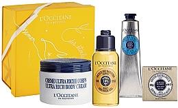 Parfémy, Parfumerie, kosmetika Sada - L'Occitane Shea Butter Body Box (b/cr/200ml + h/cr/75ml + b/oil/75ml + soap/50g + box)