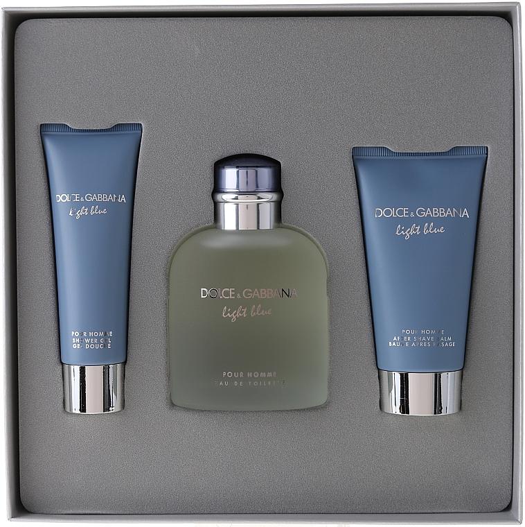Dolce & Gabbana Light Blue pour Homme - Sada (edt 125 + sh/g 50 + a/sh balm 75) — foto N1