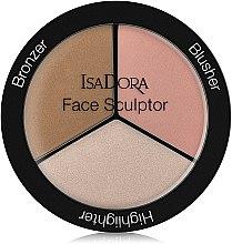 Parfémy, Parfumerie, kosmetika Paleta na konturování obličeje - IsaDora Face Sculptor