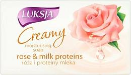 Parfémy, Parfumerie, kosmetika Krémové mýdlo Růže a mléčné proteiny - Luksja Creamy Rose & Milk Proteins Soap
