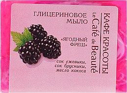 "Parfémy, Parfumerie, kosmetika Glycerinové mýdlo ""Jahodový fresh"" - Le Cafe de Beaute Glycerin Soap"